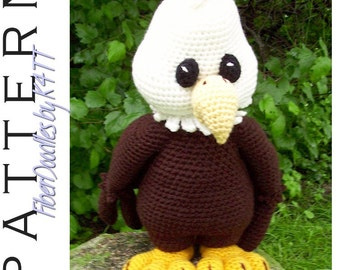 INSTANT DOWNLOAD : Palmer the Bald Eagle Crochet Pattern