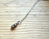 TWO Peas in a Pod Sterling Silver Necklace