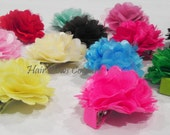 Mini Infant Flower Clippies, Flower Puff Clippies,  Toddler Petite Flower Clips, Baby Bows, Toddlers hair Bows Girls, Children