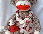 Mama and Baby Sock Monkey