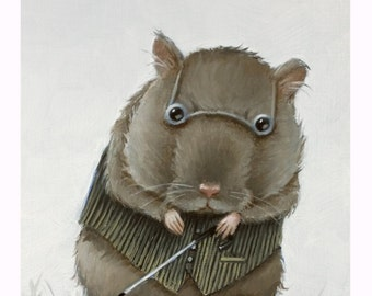 Blind Mouse 1. Signed Print of an Original Oil Painting