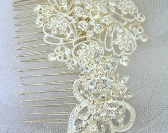 Wedding Hair Comb - Bridal Hair Comb - Wedding Hair Accessories - Rhinestone Hair Comb - Crystal Wedding Comb - Bridal Headpieces