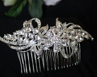Bridal Hair Comb Wedding Hair Comb - Wedding Hair Accessories-Rhinestone Bridal Comb - Headpiece Wedding Comb - Bridal Headpiece