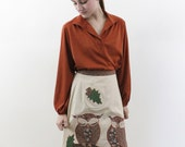 tunic top - rust toned tunic shirt with bishop sleeves