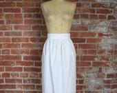 SALE *** 1910s White Cotton Apron . Antique Edwardian Lace
