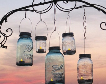 Mason Jar Lanterns 15 DIY Hanging Mason Jar Lids, Do It Yourself Wedding Lights, No Mason Jars
