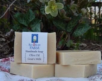 Olive Oil & Goat's Milk Soap, Unscented, Sensitive Skin, Cold Process, Extra-Moisturizing, 1 bar