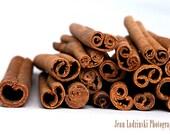 Cinnamon - Kitchen Art - 16x20 Print - Home Decor - Brown, White, Spice - Rustic - Food Photography - Natural Tones - Modern Kitchen - Macro