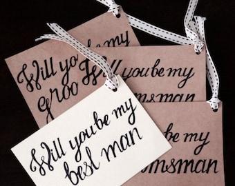 Wedding Stationery: Groomsmen Cards