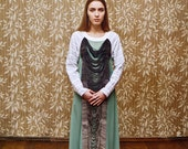 Emerald Green Dress with Knitted Detail