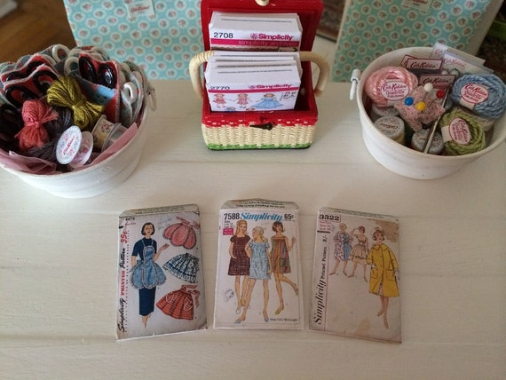 Miniature sewing patterns for dollhouse