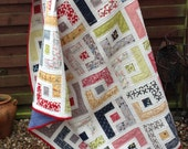 PDF Quilt Pattern Jelly Roll Quilt Pattern Easy Quilt Pattern Modern Quilt Pattern, Baby Quilt Patterns, 6 sizes Baby to King - Marcies Maze