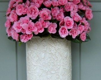 READY TO SHIP - Spring/Summer Wreath - Spring/Summer Door Basket - Pink Rose Wreath