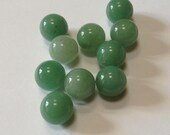 Jade Beads - 12mm Round - 10 beads