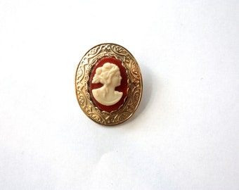 Gorgeous 1970s Cameo Brooch NOS