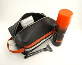 Men's Shave Bag - Vinyl Racing Stripe - Dopp Kit - Pack it in with some class