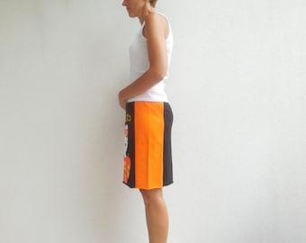 Halloween T-Shirt Skirt Womens Clothing Recycle Clothing Handmade Tee Skirt Girls Skirt Cotton Skirt Gift For Her ohzie