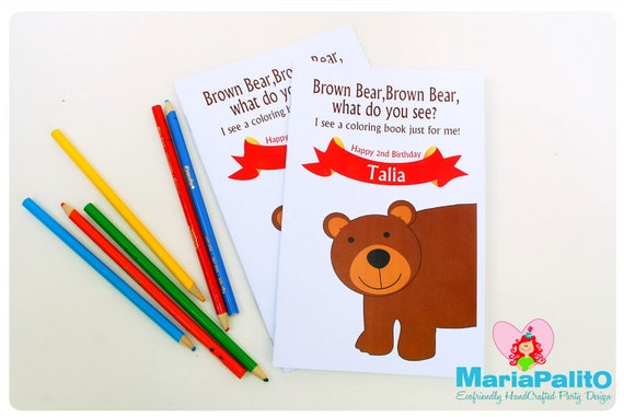 6 Brown Bear What Do You See Coloring Books Animals Party