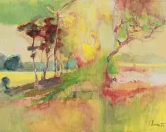 Acrylic painting on cardboard. Original Art. SALE - Landscape...