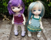 Pukifee/Lati Yellow Customizable Scallops Dress or Tunic with Leggings
