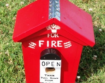 Fire or Alarm Box Birdhouse  BUILT TO ORDER