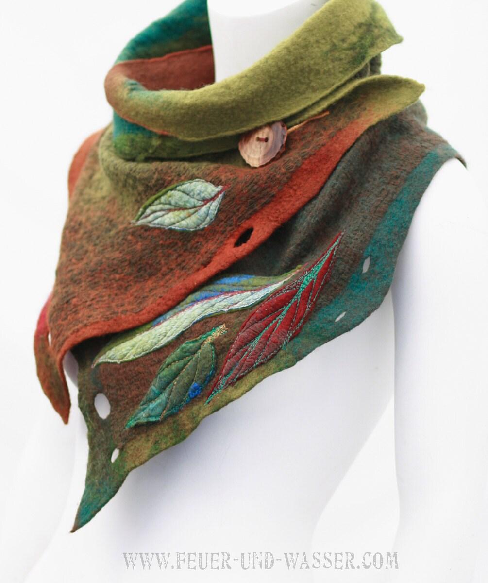 felted scarves felted scarf felt cowl nuno felted scarf