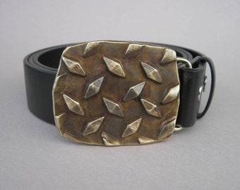 Forged Diamond Plate Belt Buckle