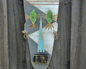 QUAZI, Tiki Mask, Tiki Man, Primitive Wall Hanging, Wood Sculpture, Rustic Beach House