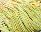 24 metre Bundle of 1mm Coloured Elastic Cord in Yellow