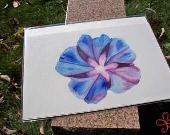 Morning Glory Watercolor Painting PRINT