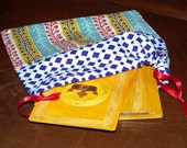 Unique Patchwork Pouch for Tarot Cards, Gemstones, Crystals, Oracle Cards