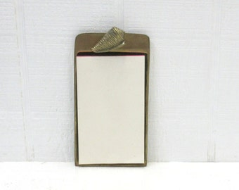 Vintage Brass Note Pad Nautical Brass Seashell Omnibus