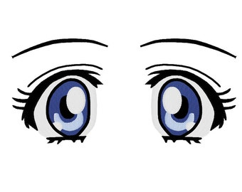 EMBROIDERY FILES: Anime Style Eyes - Embroidery Machine Design