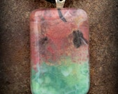 Fused Glass Necklace - Watermelon