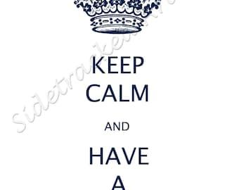 KEEP CALM and Have a Cupcake dark blue DIGITAL image No. 298
