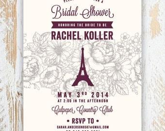 We'll Always Have PARIS -- Bridal Shower Invitations, Lingerie Party, Bachelorette