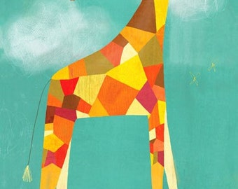 Too Tall Giraffe, Canvas Art Print / Baby Gift