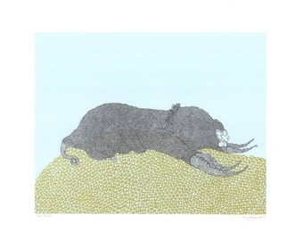 Mole Screenprint 11x14