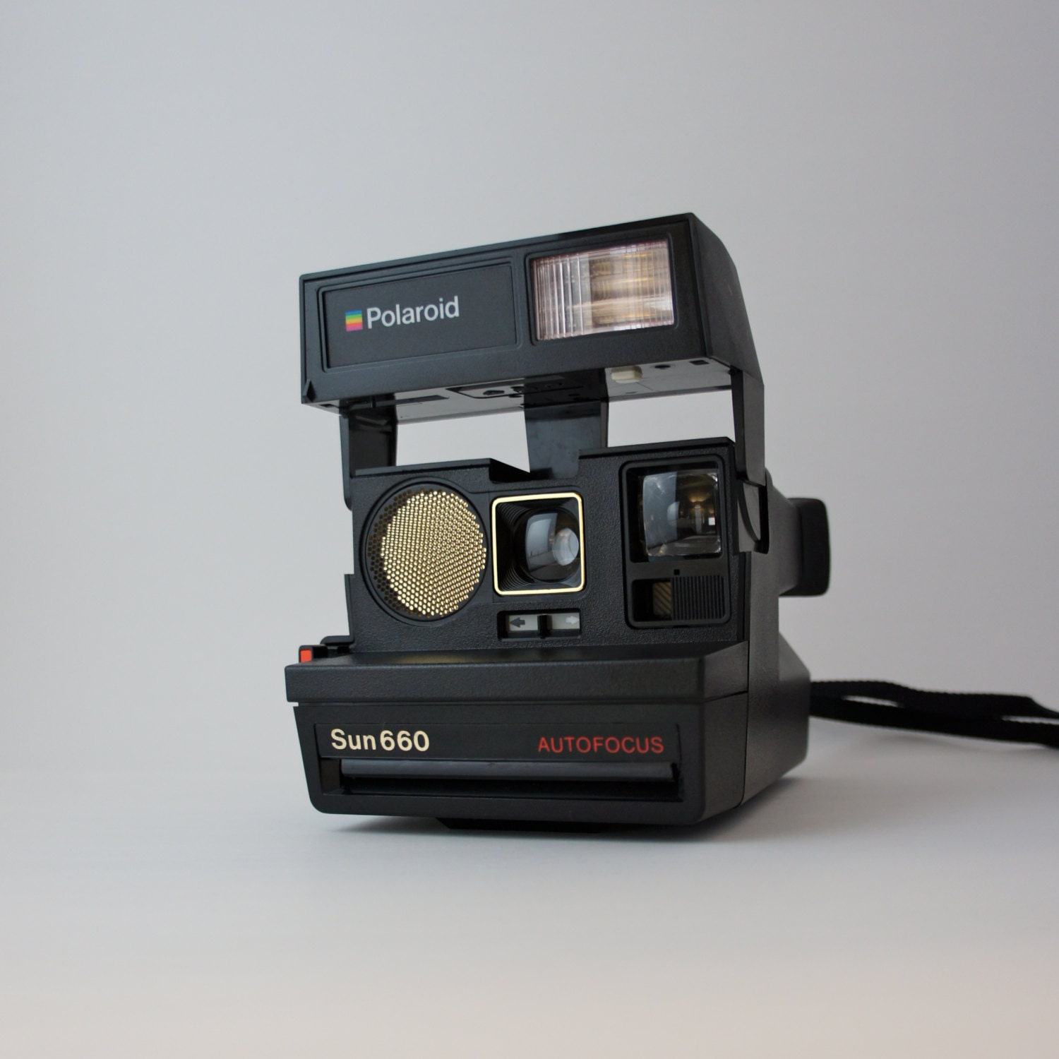 polaroid sun 660 autofocus 600 camera by boomvintage on etsy. Black Bedroom Furniture Sets. Home Design Ideas