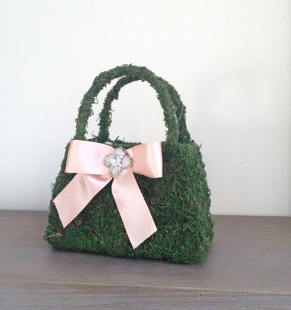 Flower Girl Basket Moss : Moss basket flower girl by luckyyouluckyme