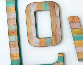 Reclaimed Wood Look - Extra Large Wall Letter - Custom