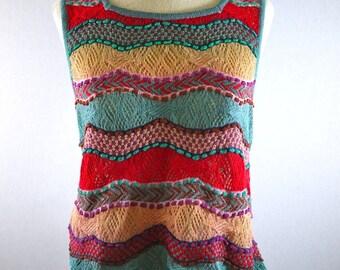 Vintage Missoni Wavy Stripe Knit Tank