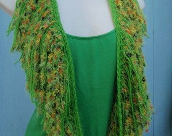 Tank Top Scarf Cowl in Techno Grass Green