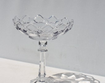 Crystal Cupcake Cake Compote Stand Display Pedestal Wedding Centerpiece Handcrafted Upcycled
