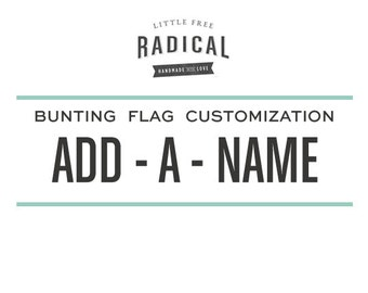 Bunting Flag Banner Customization
