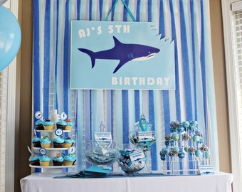 Shark Party Decorations Printable Party Package by 505 Design, Inc