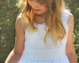 Flower Girl,  Wedding Flower Headband, hair flower, fairy wedding hair, hair accessory, flower girl - ANABELLE -