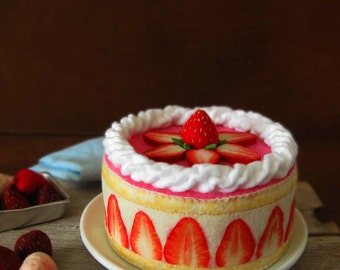 Felt Food French Strawberry Shortcake