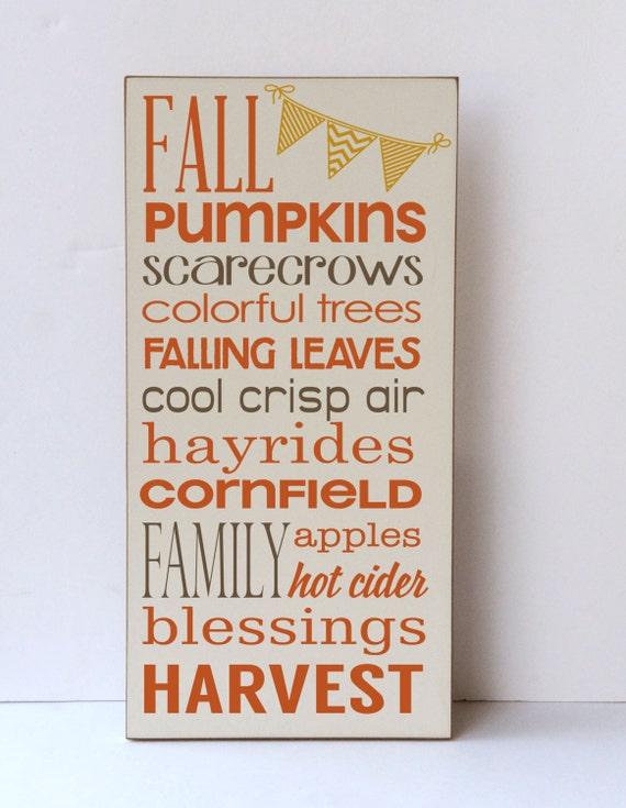 Fall Home Decor Autumn Decor Wooden Sign