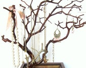 20 22  Inch Jewelry Tree on Handmade Jenga Base - Made When Ordered